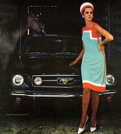 "myvintagevogue: "" Dress designed by Sylvia De Gay for Robert Sloan 1966 """