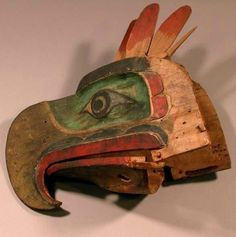 Thunderbird Mask, 20th century, British Columbia, Canada. Wood, pigment.H 14 1/8 x W 12 1/16 x D 8 5/16 in. Peabody Museum of Archaeology and Ethnology, Harvard University Peabody Museum Expedition, 17-17-10/87197. L161.5.8.