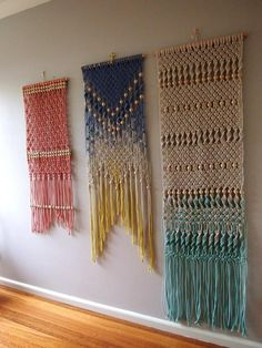 dyed wall hangings