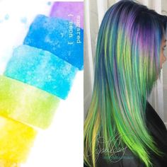 Neon Hair<3 Instagram-@CryistalChaos #haircolor #mermaidhair #virginiabeach #hamptonroads #balayage