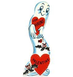 Vintage Ghost Valentine unused by BettyJanesTreasures