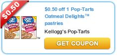 $0.50 off 1 Pop-Tarts Oatmeal Delights™ pastries