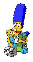 Marge and Maggie simpson animation