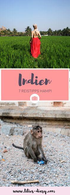Indien Reisetipps: Wir sind in das wunderschöne Indien gereist. Ein Ort den wir euch für eine Reise nach Indien auf jeden Fall empfehlen möchten ist: Hampi. Tempel, Sonnenuntergänge, Berge und Reisfelder. Der perfekte Ort um zu Entspannen. Mit dem Backpack durch Indien. Die besten Tipps und Infos für den Urlaub in Indien.