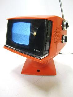 Sharp 3S-111R Batman Christian Bale, Batman Begins, Portable Tv, Old Technology, Television Set, Atomic Age, Futuristic Design, Vintage Tv, Box Tv