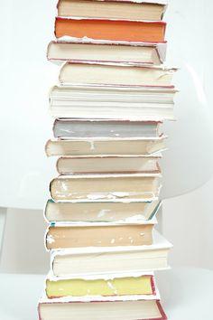 pretty stack of books