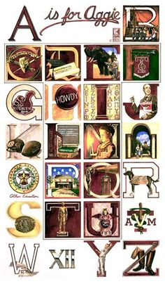 Benjamin Knox Aggie Alphabet. Want this for my classrooom!!!!