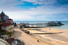 Cromer, seaside town in Norfolk, England Norfolk Beach, Norfolk Coast, Norfolk England, Cromer Norfolk, Norwich Norfolk, British Seaside, British Beaches, British Isles, Seaside Holidays