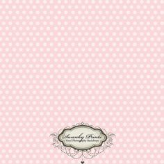 4ft x 4ft Vinyl Photography Backdrop Pale Light Pink Polka Dots Vintage perfect for newborn pics, children, babies. $39.99, via Etsy. SwankyPrints