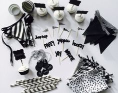 """Black & White Theme """"Party In A Tote"""""""