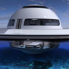 #ufo #unidentifiedfloatingobject #design #architecture #concept #floatinghouse #houseboat #floatingvilla #spaceship #watercraft #yacht #boat #boats #yachts #yachting #ship #luxury #resort #seabed #underwater #sea #floatinghome
