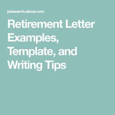 Announce Your Retirement With This Sample Letter