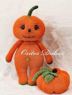 Pumpkinhead And Crackerjack Free Pattern – Amigurumi Crochet Baby Patterns, Doll Patterns, Crochet Patterns, Double Crochet, Single Crochet, Crochet Toys, Free Crochet, Baby In Pumpkin, Pumpkin Head