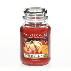 Apple Pumpkin : Large Jar Candle : Yankee Candle (If I could find a way to carry this candle around with me 24/7--I would! I absolutely LOVE the Apple Pumpkin candle from Yankee Candle Company!)