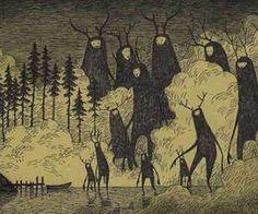 Artista hace dibujos de monstruos aterradores en notas adhesivas   Upsocl
