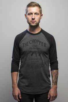 /// The Chopper - Tommy Gun baseball tee