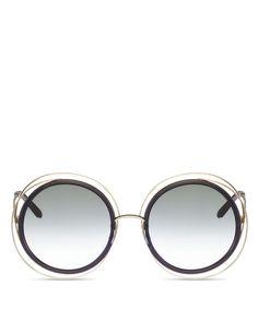 6a2e0e78a8feb2 Chloe Carlina Oversized Round Sunglasses, 58mm Mode Ados, Mode Des Défilés,  Conseils De