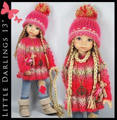 Beige-Pink-Outfit-BOOTS-Bear-Little-Darlings-Effner-13-by-Maggie-Kate. SOLD for $120.00 on 9/13/14