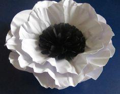 Wedding Handmade Paper Anemones Poppy 10 inch Ready to by mcfunk90, $18.50