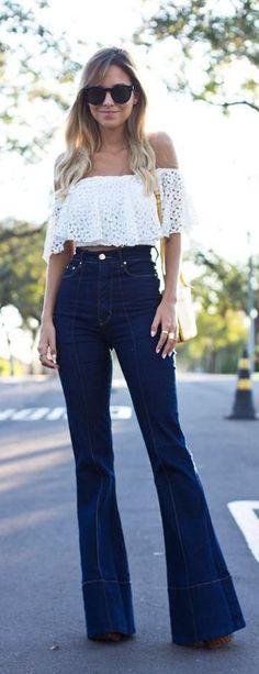 Off the shoulder + flares.