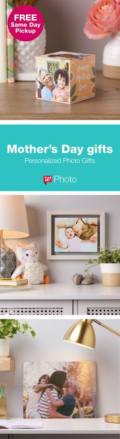 Mom's favorite moments make the most meaningful gifts. Get creative and make your own Photo Gift that's just her style!