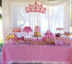Princess Baby Shower, Tutu And Tiara Baby Shower