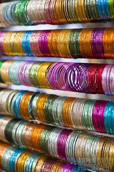 Bangles.  Ajmer, Rajasthan, India.