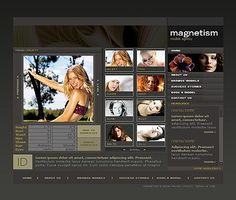 Model Agency Flash Templates by Di Fashion Wordpress Theme, Flash Templates, Model Agency, Website Template