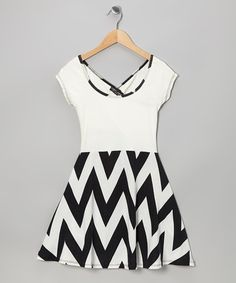Another great find on #zulily! Black & White Zigzag Dress #zulilyfinds