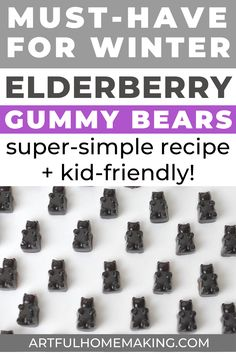 Elderberry syrup gummies are a must-have in our winter natural medicine arsenal. We love making this easy recipe and then eating these for a great immune system boost! Elderberry Powder, Elderberry Gummies, Elderberry Recipes, Elderberry Syrup, Homemade Gummies, Health And Fitness Magazine, Wellness Mama, Easy Meals For Kids, Recipes