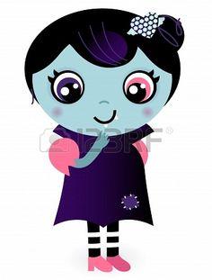 Lovely Valentine Vampire Girl. Vector caroon Illustration