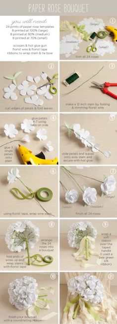 Beautiful Paper Flower BouquetDouble click to view pictures