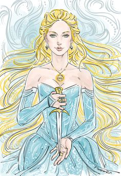 """phantomrin: """" Celaena/ Aelin (""""Throne of Glass"""" by Sarah J.Maas @ sjmaas.tumblr.com/ ) When my brain refuses to work properly I resort to drawing flowing hair (MUCH flowing hair!!) …and fancy..."""