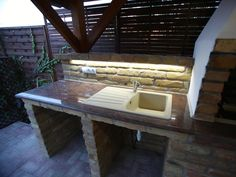 Kemax - Csömöri kerti konyha Kitchen, Table, Outdoor, Furniture, Home Decor, Outdoors, Cooking, Decoration Home, Room Decor