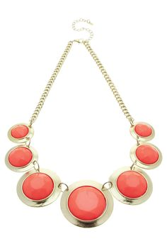 Round Stone Collar Necklace