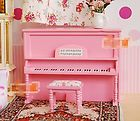Mini Pink Piano 1:12 Scale Barbie Doll House Miniature Music Room Selections - http://dolls.goshoppins.com/dollhouse-miniatures/mini-pink-piano-112-scale-barbie-doll-house-miniature-music-room-selections/