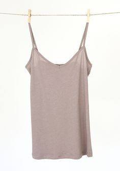 Cotton Tank: Taupe [TCJ-C1185] - $11.99 : Spotted Moth, Chic and sweet clothing and accessories for women