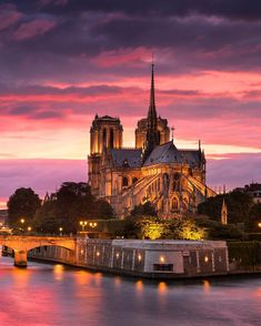 Paris. sunset over NotreDame ♠ by ilhan1077 on Instagram