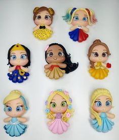Sculpey Clay, Cute Polymer Clay, Polymer Clay Crafts, Diy Clay, Disney Word, Fondant Tutorial, Pasta Flexible, Princesas Disney, Cold Porcelain