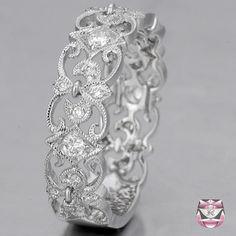 Diamond Wedding Band Fleur-de-Lis  - Special Order