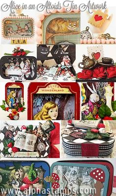Alpha Stamps News » Alice in an Altoid's Tin?! And FLASH SALE on Alice-y Charms!