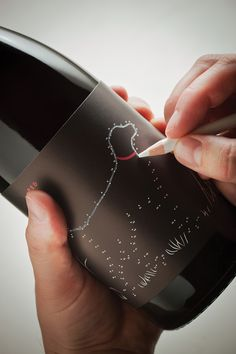 """Point After Point"" Wine Bottles by Brandon Oltman, via Behance"