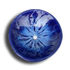 Ocean Blue Contemporary Ceramic Vessel Sink