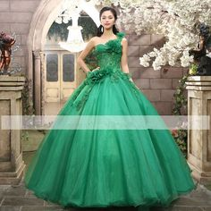 One Shoulder Applique Quinceanera Wedding Dresses Prom Party Pageant Ball Gown   #victor10188 #BallGown #Cocktail