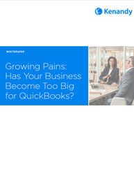 || Growing Pains: Has Your Business Become Too Big for QuickBooks? || A growing manufacturing company requires capabilities that go beyond entry-level accounting products augmented with add-ons. Here, the next logical step is an ERP solution. Moving your company to cloud-based ERP enables more efficient and effective business operations. #ERP #EnterpriseResourcePlanning #Manufacturing #Business