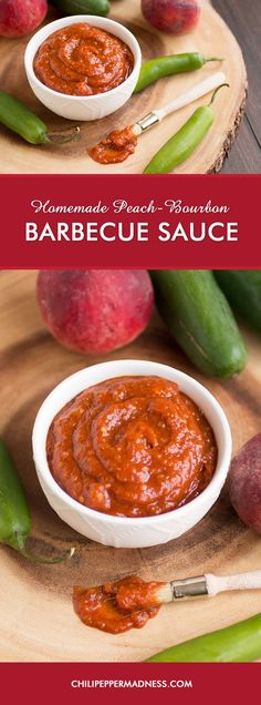 Homemade Peach-Bourbon Barbecue Sauce Recipe - Made with sweet peaches ...