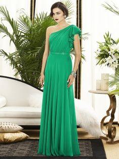 Sheath/Column Sleeveless One-Shoulder Chiffon Floor-Length Dresses