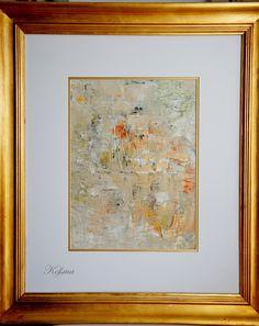 Acryl auf Leinwand mit Passepartout 50x60 cm außen und 29x39 cm innen