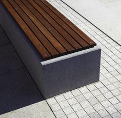 conc/wood bench