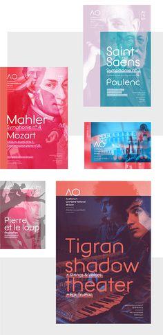 Transparency/Overprints / Auditorium Orchestre National de Lyon - Poster design on Behance